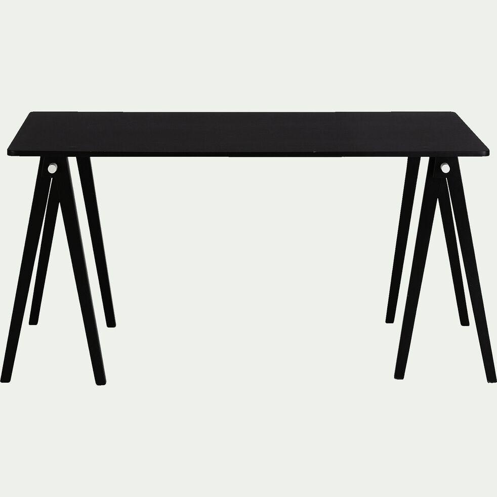 Lot de 2 barres pour former un tréteau de bureau composable - noir-PUNCIA