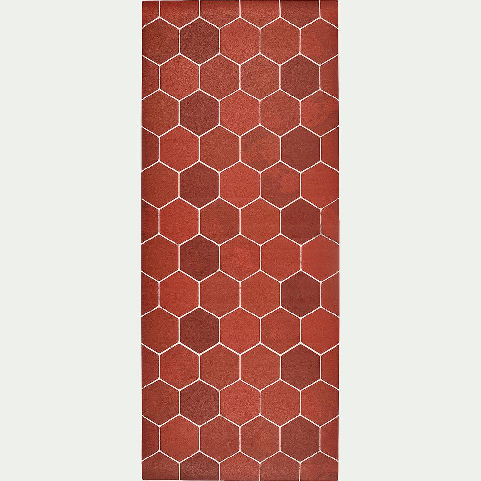 Tapis de cuisine tomette en vinyle 50x120cm-RAZ