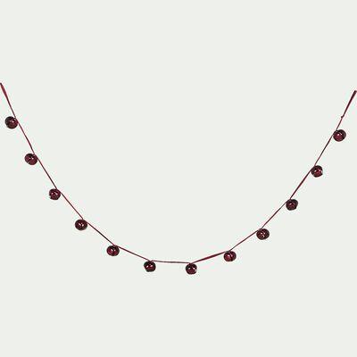 Guirlande avec grelots rouges sumac L180cm-HUGON