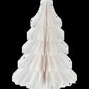 Sapin à poser en papier blanc H18cm-TROPHIME