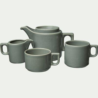 Tasse à thé en faïence vert cèdre 25cl-VADIM
