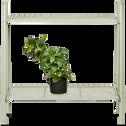 Support plante en acier vert olivier L65xH64,5x29cm-ERBA