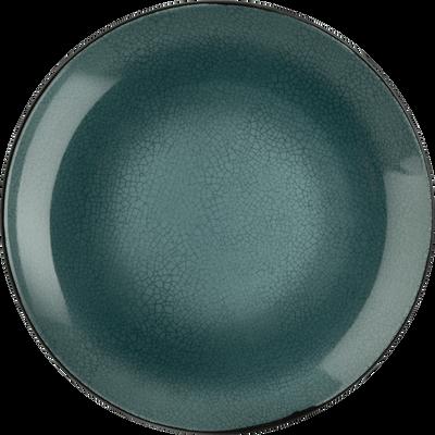 Assiette plate en grès bleu et noir D28cm-IMPERIA