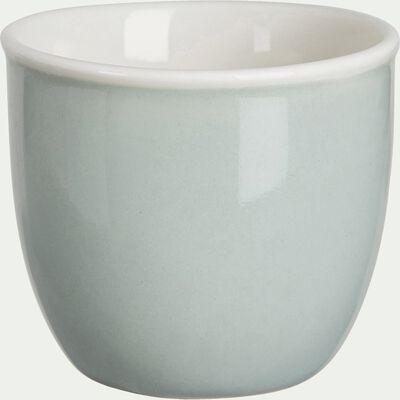 Coquetier en porcelaine - vert olivier-CAFI