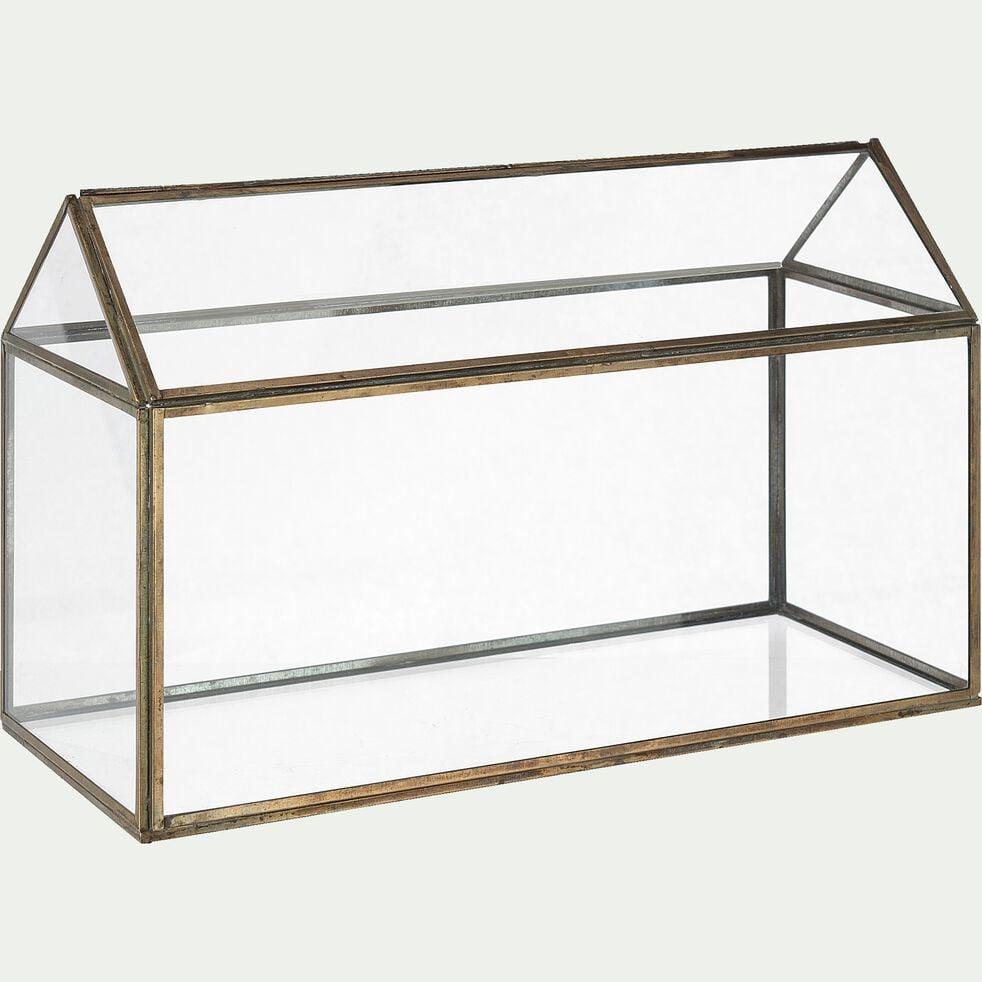Terrarium en verre L35,5xl15xH23cm - transparent-EDEN