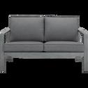 Canapé de jardin en aluminium gris (2 places)-CAGLIARI