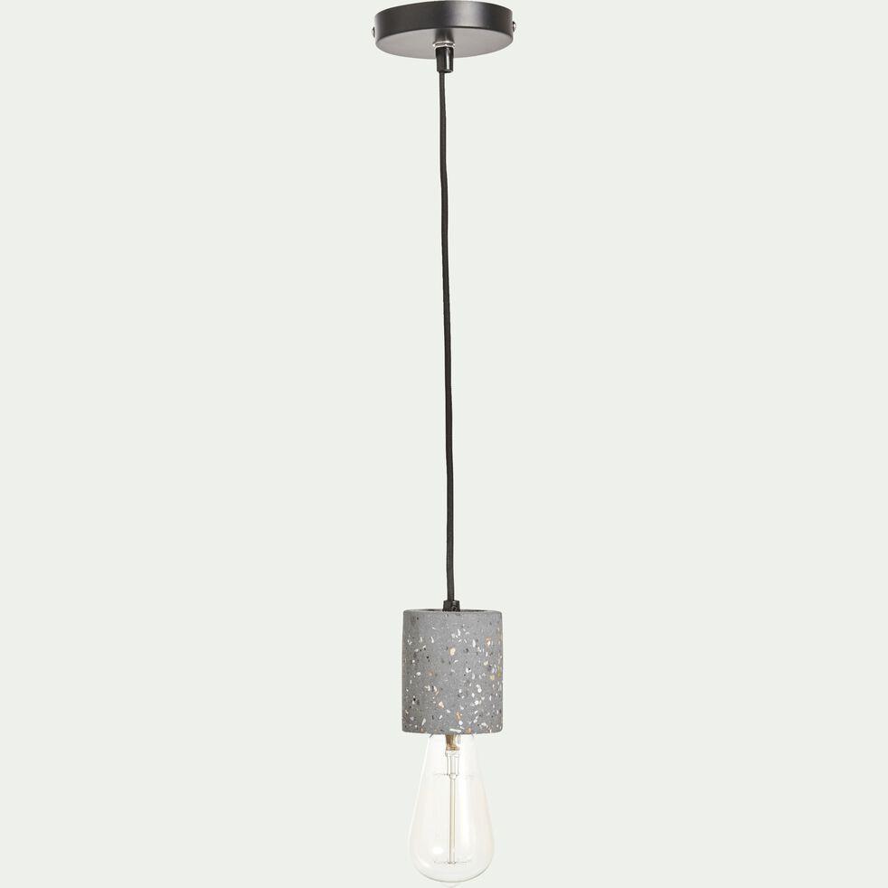 Suspension en terrazzo - gris H8,5xD6,5cm-PRAO