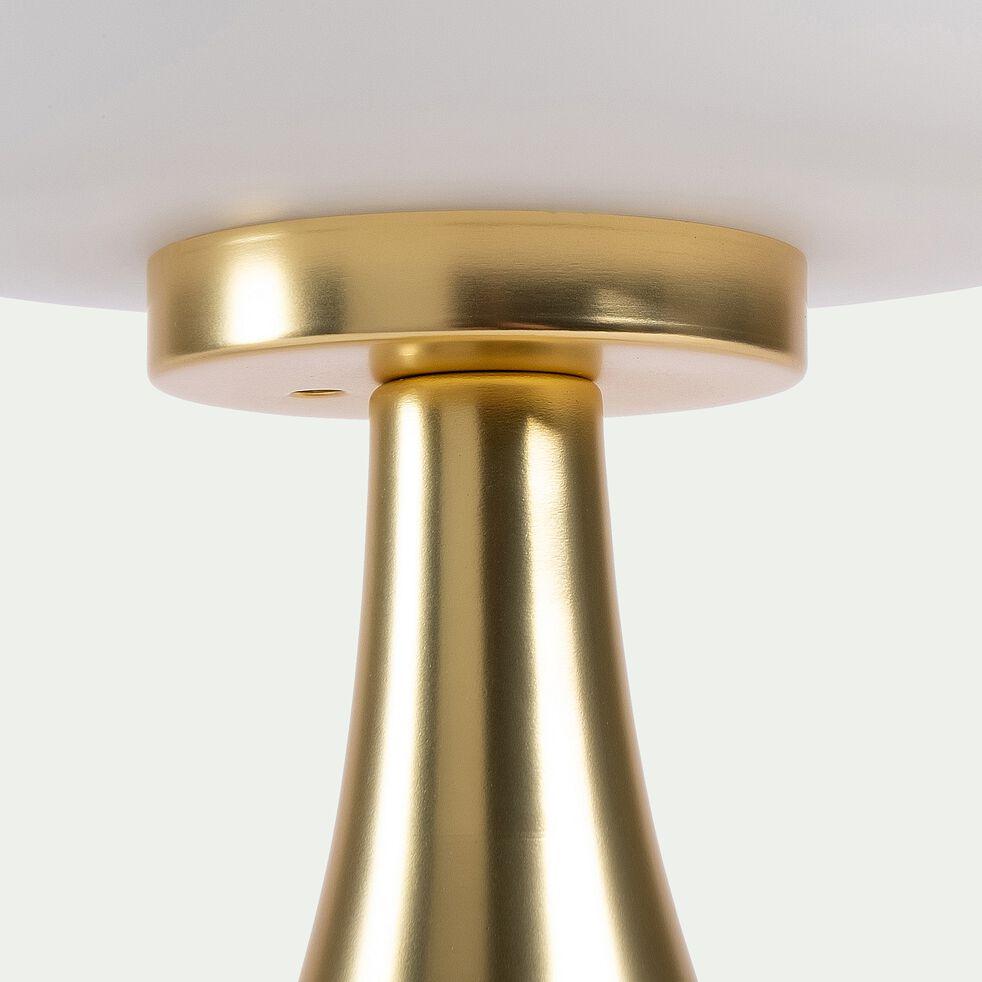 Lampe tactile en métal et verre - doré D15xH26cm-CHAMPI