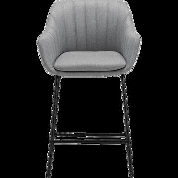 Chaise haute en tissu gris borie-OLBIA