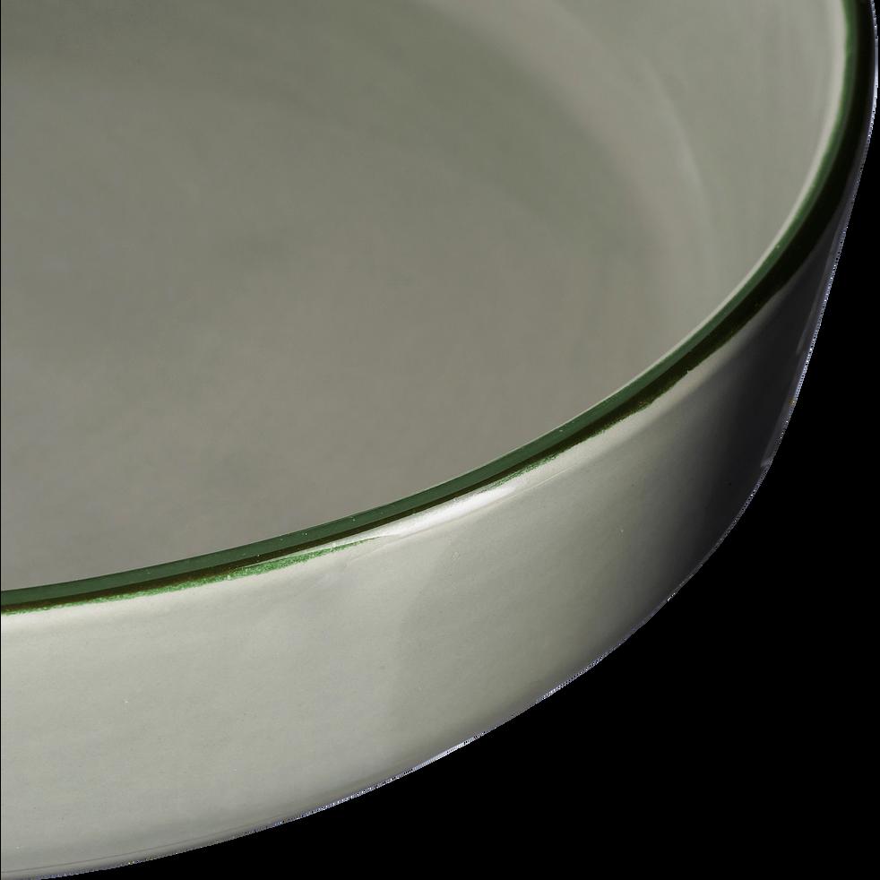 Saladier en faïence vert olivier D24cm-LANKA