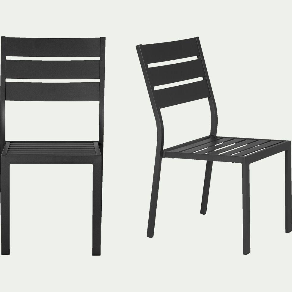 maria chaise de jardin empilable noire en aluminium