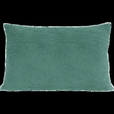 Coussin en coton vert effet nid d'abeille 40x60cm-HONEY