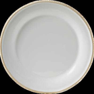 Assiette plate en faïence blanche D27cm-LUBERON