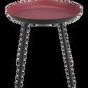 Bout de canapé en acier rouge-SOUFIO