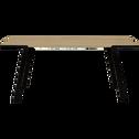 Table de repas plaquée chêne pieds métal - 8 places-DON