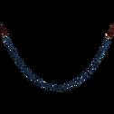 Guirlande en bois bleu figuerolles L183cm-BALARD