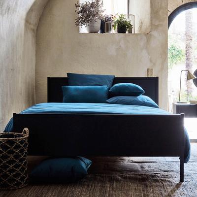 Coussin en coton bleu figuerolles 40x40cm-CALANQUES