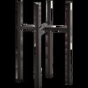 Porte-plante en métal noir H35xD20,5cm-ASCOT