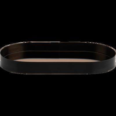 Plateau miroir ovale L30xH16cm-GLASS