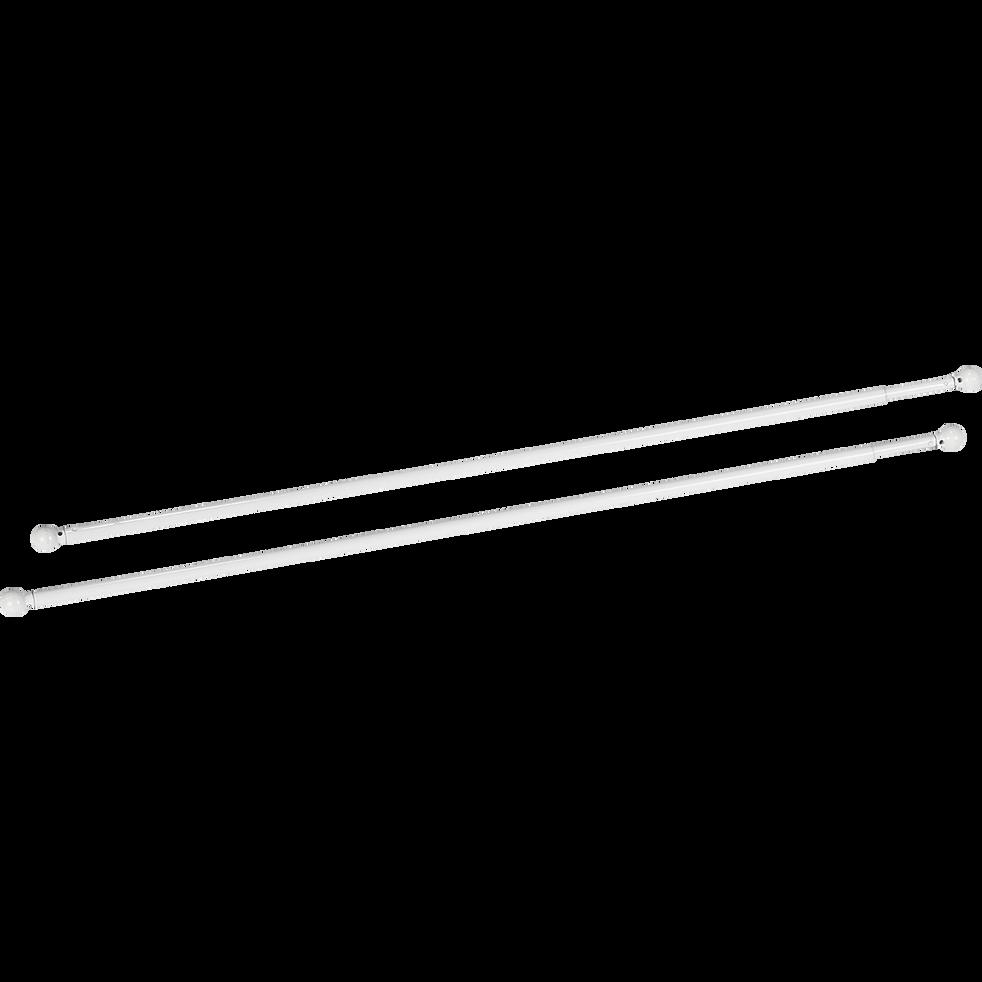 Tringle extensible pour vitrage coloris blanc 60 à 80cm-Simply