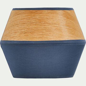 Applique murale en bois et tissu bleu figuerolles 25x20x12cm-DOMUS