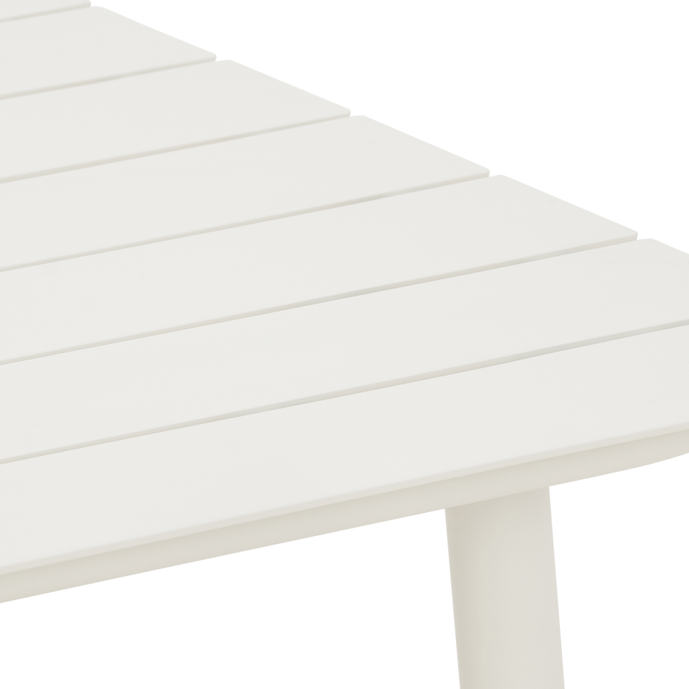 Table de jardin blanc en aluminium (6 places)-CENOZA
