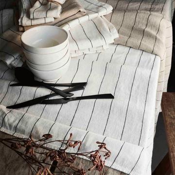 Gamme de linge de table en lin blanc-BORSALINO