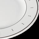 Assiette plate en porcelaine blanche D26cm-PRESTIGE