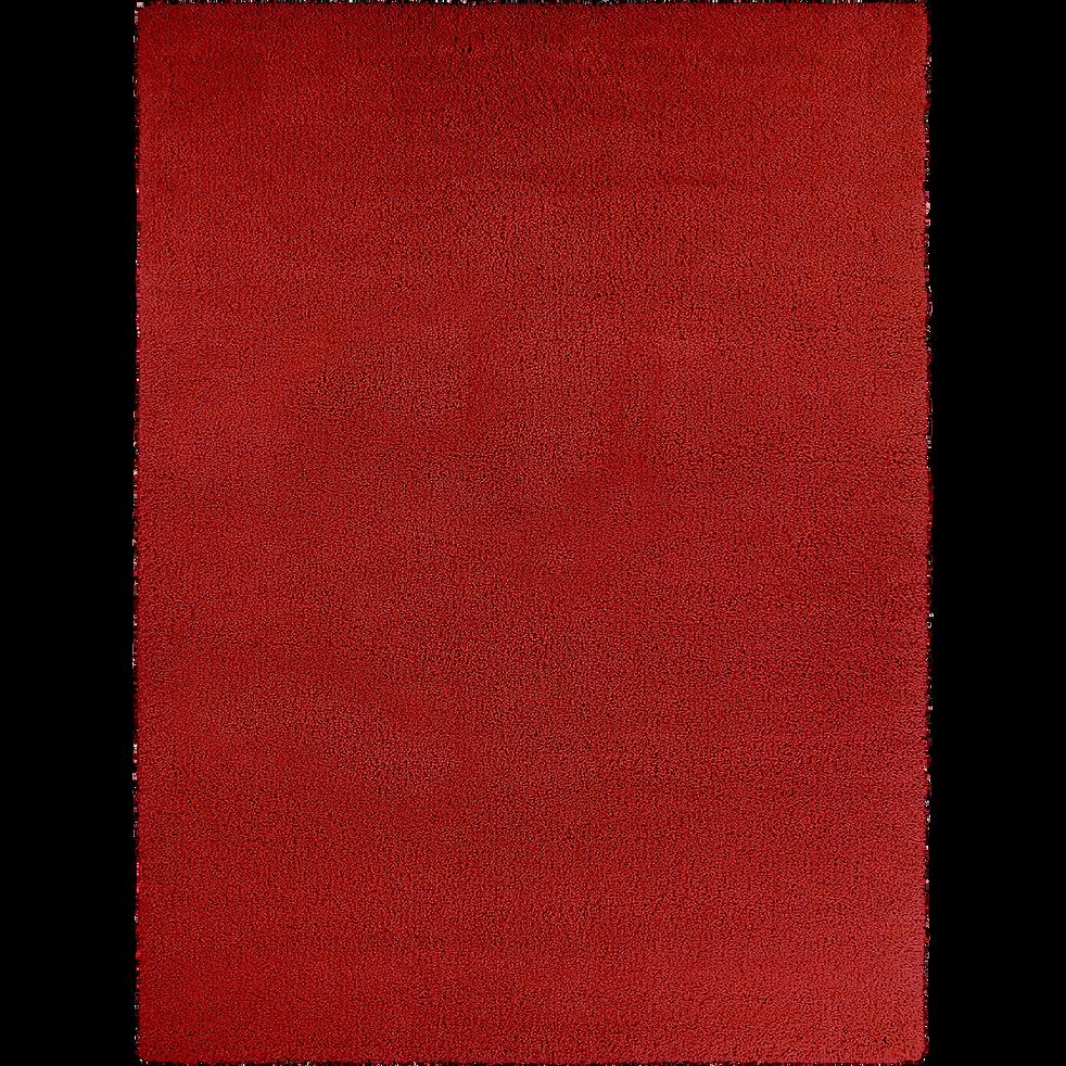 Tapis à poils longs rouge 120x170 cm-KRIS
