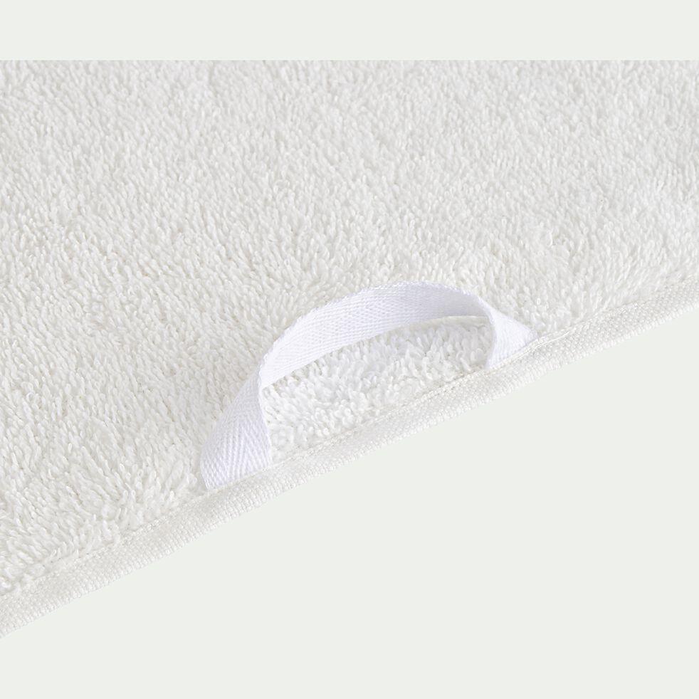 Serviette de bain en coton peigné - blanc ventoux 50x100cm-Garance