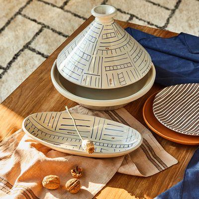 Set de table en lin et coton rouge 30x45cm-SIDI