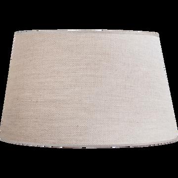 Abat-jour en lin gris D45cm-Mokuzai