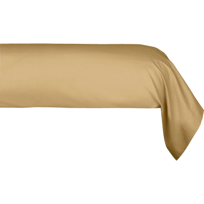 Taie de traversin en coton Beige nèfle 43x190cm-CALANQUES