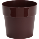 Pot rouge en plastique H14xD16cm-B FOR