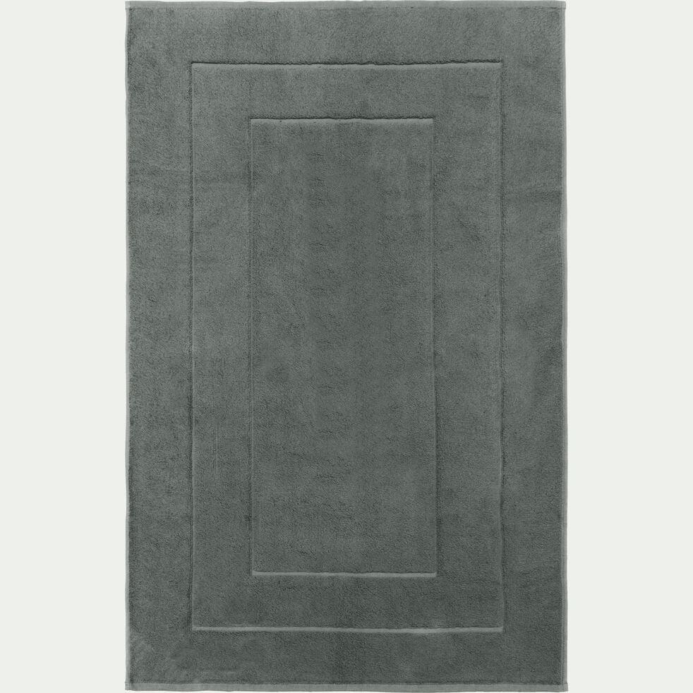 Tapis de bain en coton peigné - gris restanque 60x110cm-AZUR