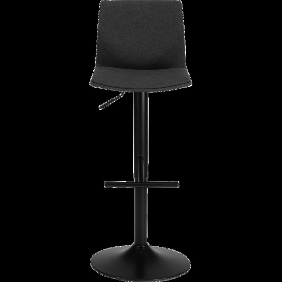 THORONET Chaise de bar pivotante en tissu gris H60 à 81cm