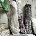 Tapis imitation fourrure - gris 120x170cm-mala