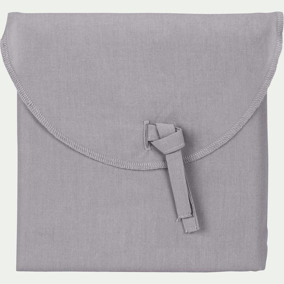 Lot de 2 taies d'oreiller en coton - gris restanque 50x70cm-CALANQUES