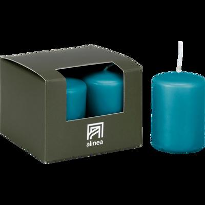 4 bougies votives bleu niolon-HALBA