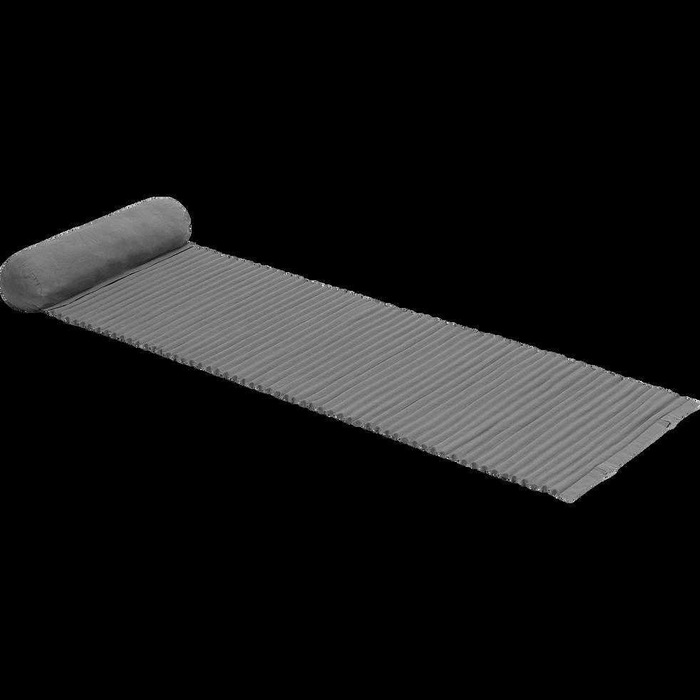Tapis de plage 60x170 cm Gris restanque-MATIS