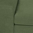 Canapé 3 places fixe en tissu kaki-PICABIA
