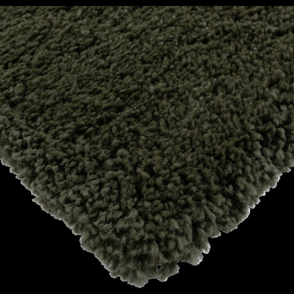 Tapis à poils longs vert cèdre 160x230cm-KRIS