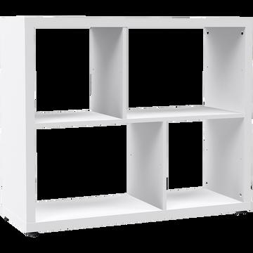 Étagère 4 cases blanche L95.8cm-BRIK