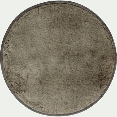 Tapis en fausse fourrure gris D70cm-Dallas