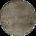 Tapis en fausse fourrure - gris foncé D70cm-Dallas