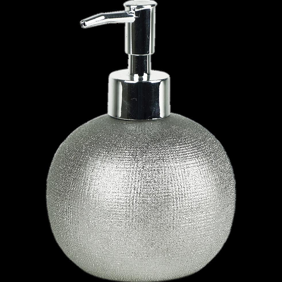 Distributeur de savon en grès argenté-TESS