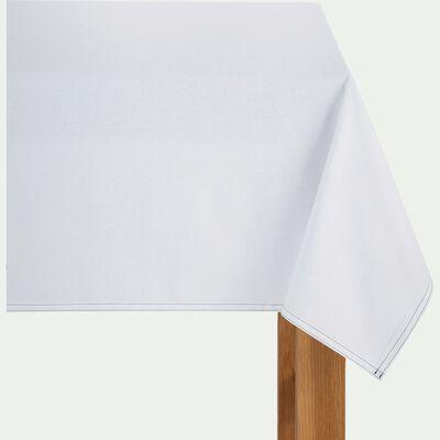Nappe en coton blanc 145x250cm-VENASQUE