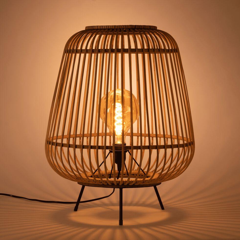 Lampe à poser en bambou - D42xH53cm-NIMES