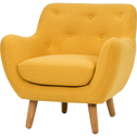 Fauteuil jaune moutarde-POPPY