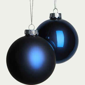Lot de boules en verre bleues 4 pièces D10cm-alezia
